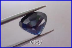 Natural sapphire deep ink blue common heat 3.11 cts