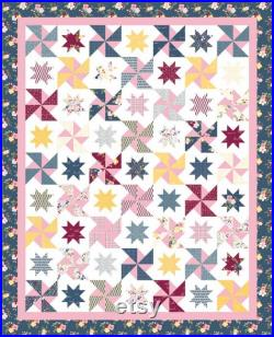 Play Date Quilt Kit made with Bloom and Grow by Simple Simon and Company for Riley Blake Finished size 68 X84