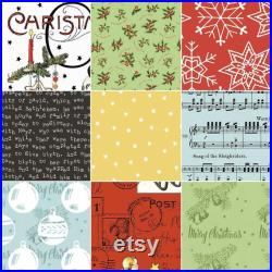 Preorder All About Christmas by J. Wecker Fisch for Riley Blake Fat Quarter Bundle 30 Prints