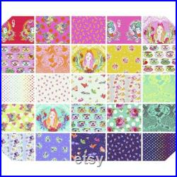 Preorder Curiouser and Curiouser by Tula Pink for Free Spirit Full Collection Half Yard Bundle 25 Pieces