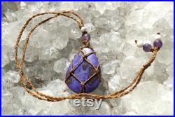 Purple SUGILITE Necklace adjustable 26 Genuine Sugilite from South Africa, Amethyst and Kunzite beads Healing Crystals WSUG1