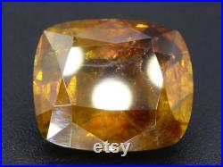 Rare AAA Astonishing Fire 4.80 ct Natural Titanite Sphene Pakistan 10.85 x 9.35 x 5.65mm