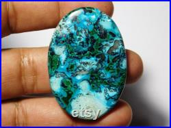 Rare Collection Of Very Rare and Gorgeous Azurite Malachite Very High Quality Cabochon,Natural Loose Gemstone 83Cts.(49X34)mm.
