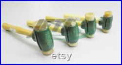 Rawhide Mallet Garland Split Head Hammers Set of 4 Sizes Mallets for Shop Work (9.9 PM)