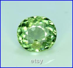 Tourmaline Gemstone , Mint Green Tourmaline Cut stone , Tourmaline Stone 3.90 cts , 10 09 05 mm