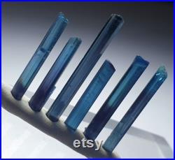 Tourmaline crystals Indicolite color lot