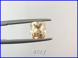 Unheated Canary Yellow Sapphire 2.85 carat Asscher Cut High Brilliance