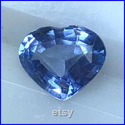 Unheated GIA Certified Blue Sapphire 1.20 Carats Natural Genuine Real September Loose Birthstone Untreated Heart Cut Gemstone
