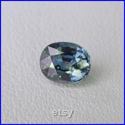 Unheated Greenish Blue Sapphire Songea, Tanzania 1.12ct 6.4x5.2x3.79mm Loose Gemstone Untreated