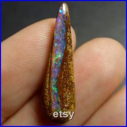 Video Australian Boulder Opal Freeform Wood Fossil 25 x 7 x 3mm Opal Untreated Opal Gemstone Supplies CODE YU399