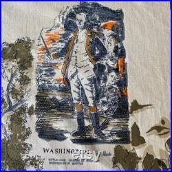 Vintage 1956 Cohama Fabrics Commemorative Old Nassau Hall Fabric, Vintage Battle of Princeton Fabric, Revolutionary War Fabric