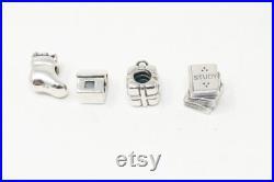 Vintage Designer Pandora ALE Sterling Silver Charms Lot