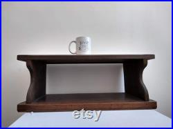 Vintage French Heavy Wooden Lectern Brown Natural Wood Storage Display Stand Shelf Unit Cabinet Shop Retail Pulpit c1930's EVE de France