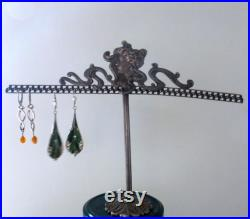Vintage French Jewellery Earring stand Art Nouveau style