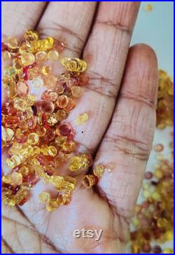 WILD SALE 2 X 4 MM Yellow Sapphire Beads Smooth Sapphire Beads Undrilled Gemstone For Jewelry Making Sapphire loose Crystal