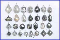 White Grey and Black Salt and Pepper Diamonds