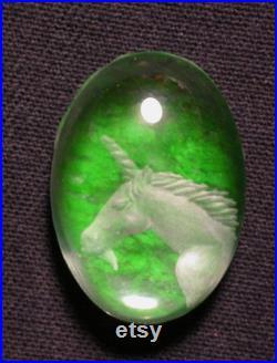 unicorn, carved, gem cabochon